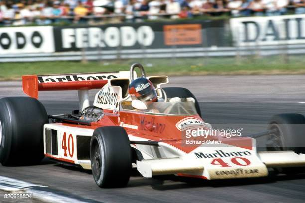 Gilles Villeneuve McLarenFord M23 Grand Prix of Great Britain Silverstone 16 July 1977 Gilles Villeneuve's first ever Formula 1 race at the wheel of...