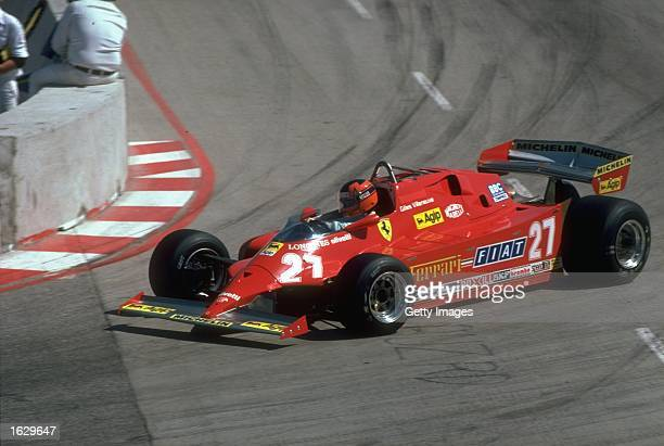 Gilles Villeneuve of Canada in action in his Scuderia Ferrari during the Monaco Grand Prix at the Monte Carlo circuit in Monaco Villeneuve finished...