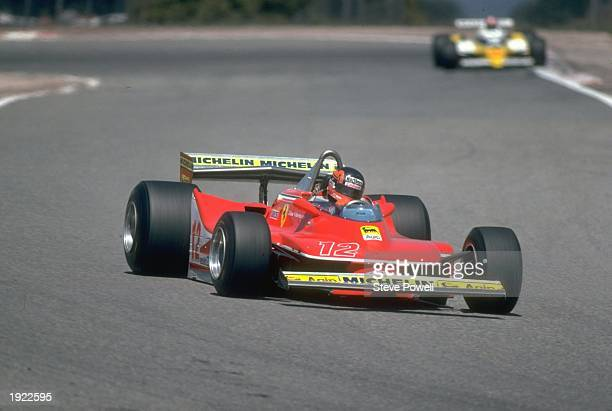 Gilles Villeneuve of Canada in action in his Scuderia Ferrari during the Spanish Grand Prix at the Jarama circuit in Spain Villeneuve finished in...