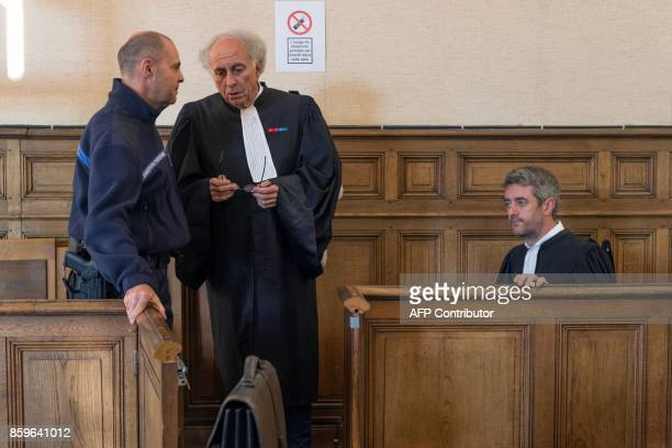 GillesJean Portejoie and Renaud Portejoie lawyers of Cecile Bourgeon are pictured in the courthouse in Le PuyenVelay on October 10 prior to a hearing...