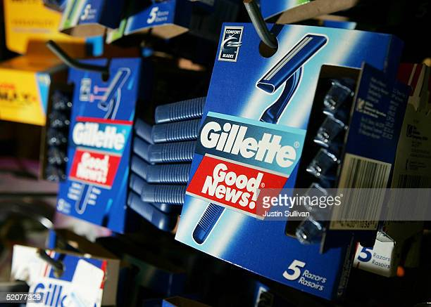 Gillette Good News razors made by the Gillette Co are seen on display at the Arguello Supermarket January 28 2005 in San Francisco Procter Gamble Co...