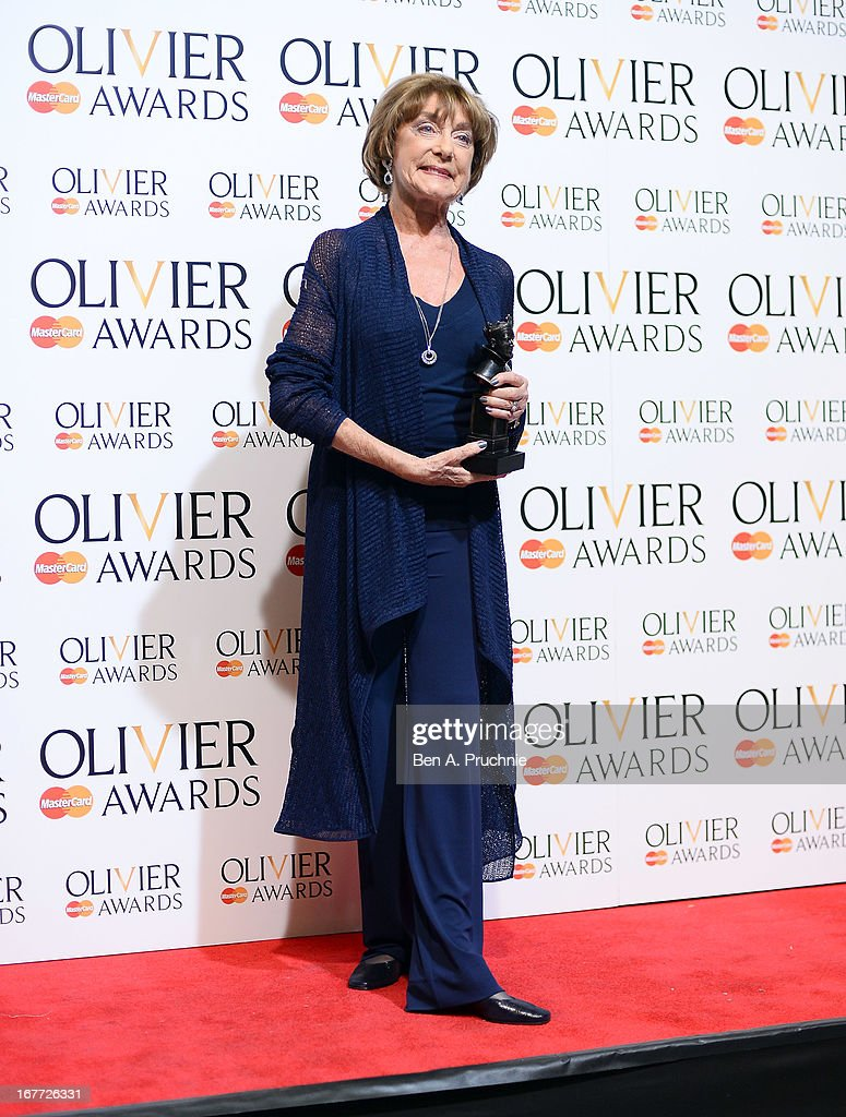Gilliam Lynne with her Special Award during The Laurence Olivier Awards at the Royal Opera House on April 28, 2013 in London, England.
