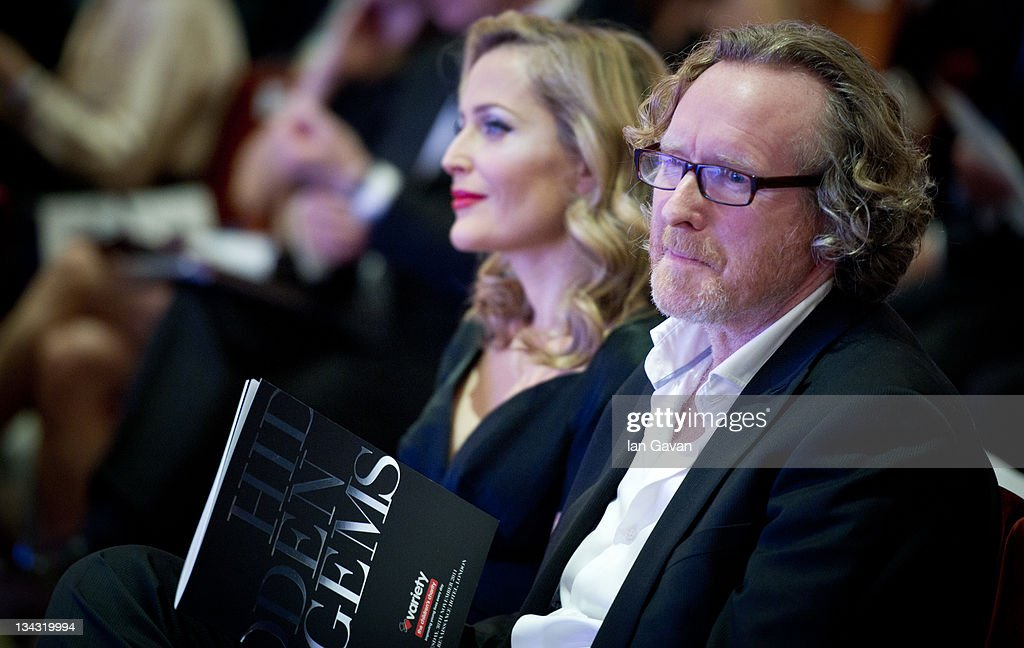 <a gi-track='captionPersonalityLinkClicked' href=/galleries/search?phrase=Gillian+Anderson&family=editorial&specificpeople=202894 ng-click='$event.stopPropagation()'>Gillian Anderson</a> and Alistair Morrison attend the 'Hidden Gems' Photography Gala Auction in support of Variety Club children's charity at St Pancras Renaissance Hotel on November 30, 2011 in London, England.