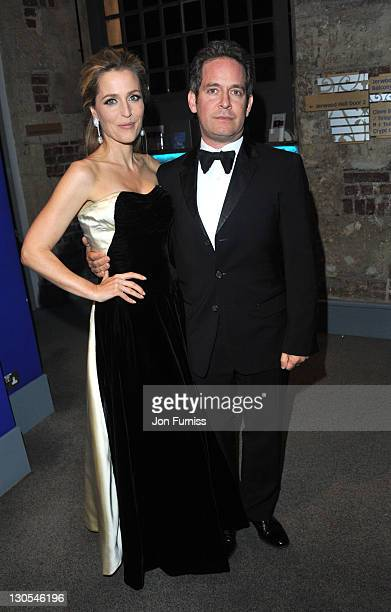 Gillian Anderson and Tom Hollander attends the 2011 BFI London Film Festival Awards at LSO St Lukes on October 26 2011 in London England