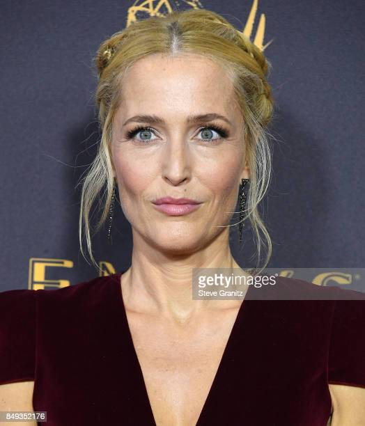 Gillian Anderson arrives at the 69th Annual Primetime Emmy Awards at Microsoft Theater on September 17 2017 in Los Angeles California