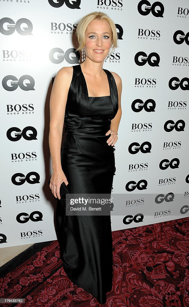 Gillian Anderson arrives at the GQ Men of the Year awards at The Royal Opera House on September 3, 2013 in London, England.