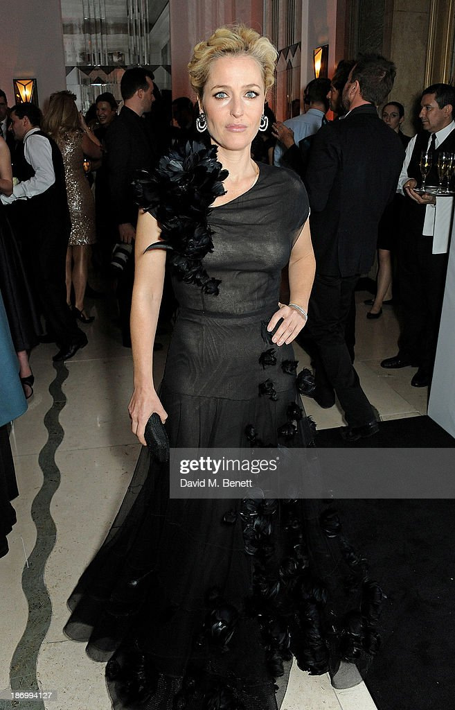 Gillian Anderson arrives at the Harper's Bazaar Women of the Year awards at Claridge's Hotel on November 5, 2013 in London, England.