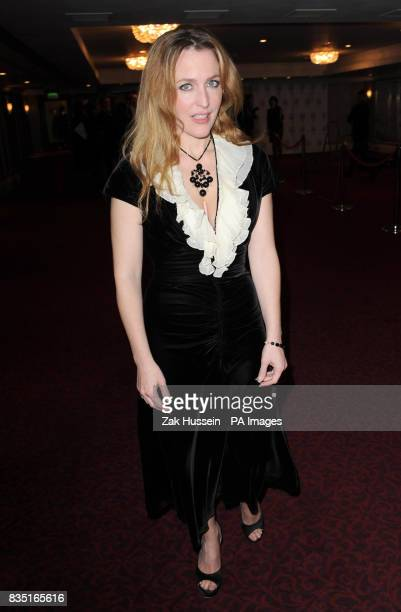 Gillian Anderson arrives for the Laurence Olivier Awards at the Grosvenor Hotel in central London