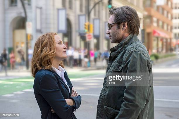 Gillian Anderson as Dana Scully and David Duchovny as Fox Mulder The next mindbending chapter of THE XFILES debuts with a special twonight event...
