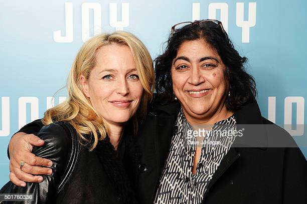 Gillian Anderson attends a special screening of 'Joy' at Ham Yard Hotel on December 17 2015 in London England