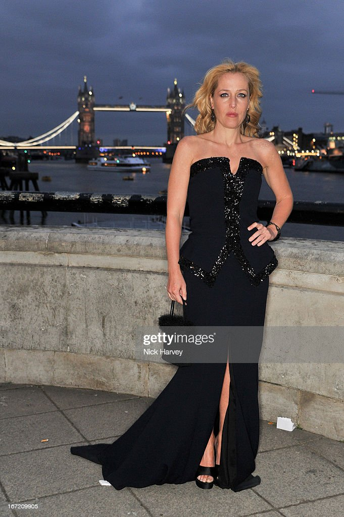 Gillian Anderson attends as Relais & Chateaux present 'Diner Des Grands Chefs London 2013' at The Old Billingsgate on April 22, 2013 in London, England.