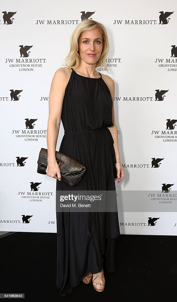 <a gi-track='captionPersonalityLinkClicked' href=/galleries/search?phrase=Gillian+Anderson&family=editorial&specificpeople=202894 ng-click='$event.stopPropagation()'>Gillian Anderson</a> attends JW Marriott Grosvenor House English Summer Garden Party on June 21, 2016 in London, England.