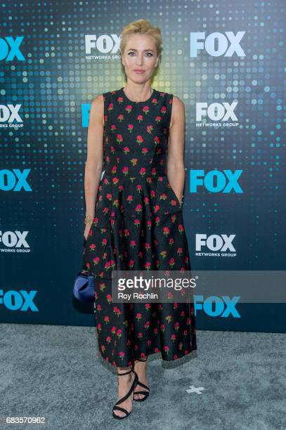 Gillian Anderson attends the 2017 FOX Upfront at Wollman Rink Central Park on May 15 2017 in New York City