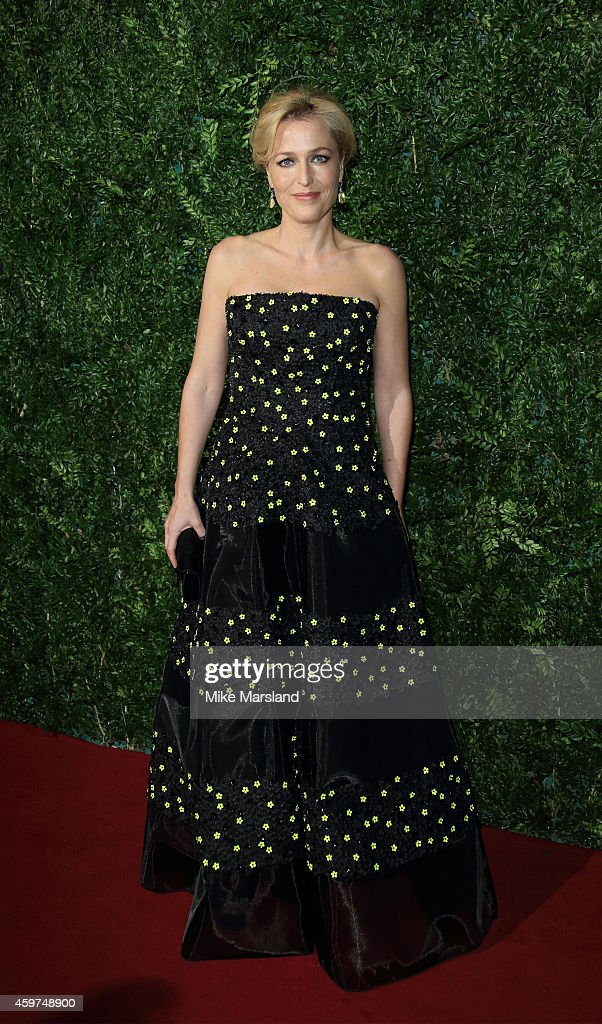 Gillian Anderson attends the 60th London Evening Standard Theatre Awards at London Palladium on November 30, 2014 in London, England.