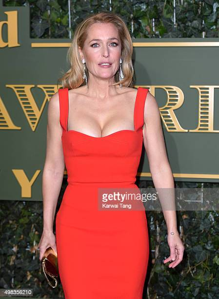 Gillian Anderson attends the Evening Standard Theatre Awards at The Old Vic Theatre on November 22 2015 in London England