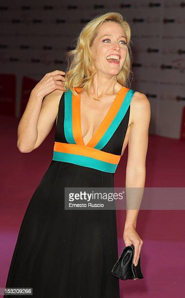 Gillian Anderson attends the 'Great Expectations' premiere as a part of RomaFictionFest at Auditorium Parco Della Musica on October 1 2012 in Rome...