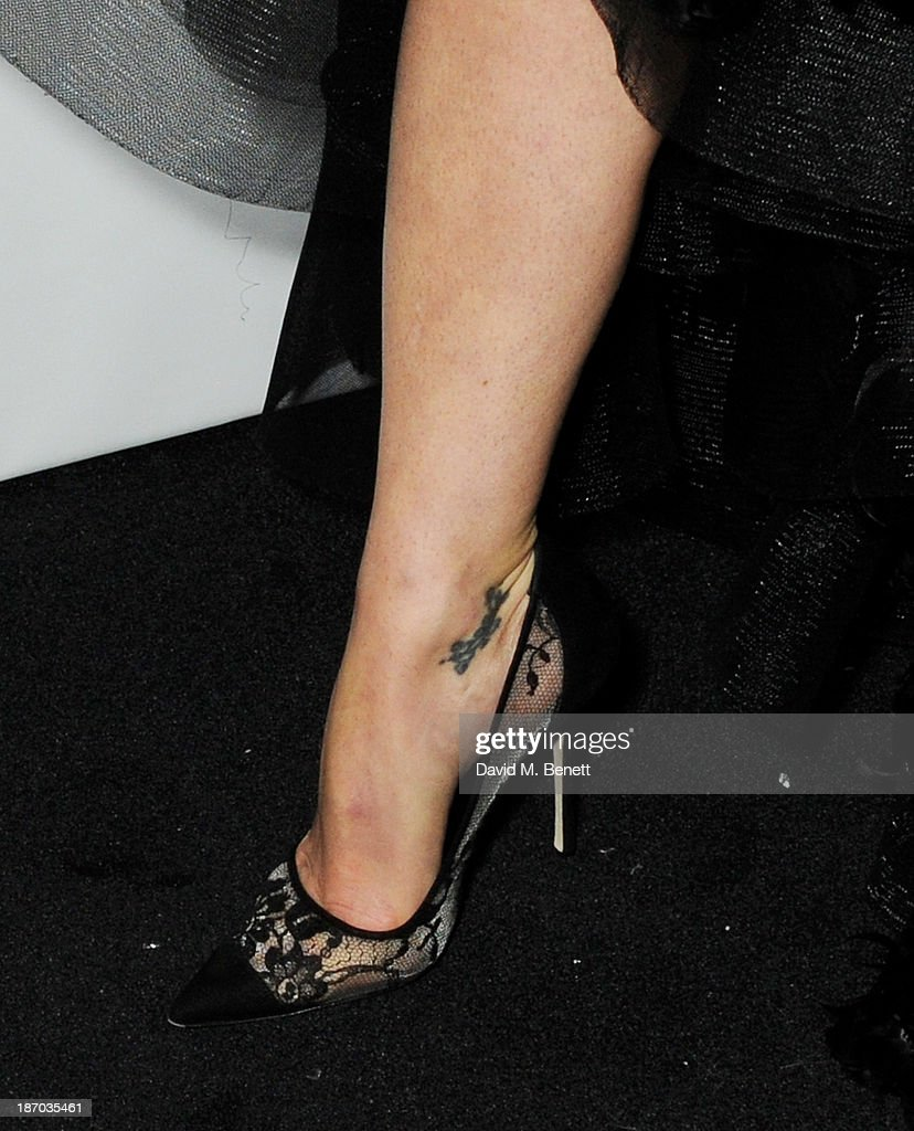 Gillian Anderson (shoe detail) attends the Harper's Bazaar Women of the Year awards at Claridge's Hotel on November 5, 2013 in London, England.