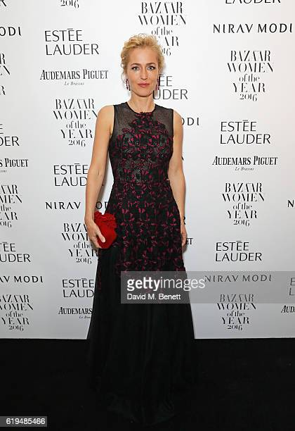 Gillian Anderson attends the Harper's Bazaar Women of the Year Awards 2016 at Claridge's Hotel on October 31 2016 in London England