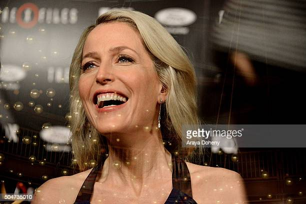 Gillian Anderson attends 'The XFiles' Fox premiere at California Science Center on January 12 2016 in Los Angeles California