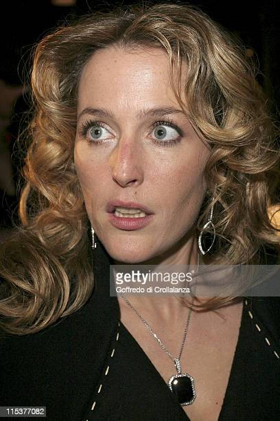 Gillian Anderson during BAFTA Film Awards 2005 After Party at Grosvenor House Hotel in London United Kingdom