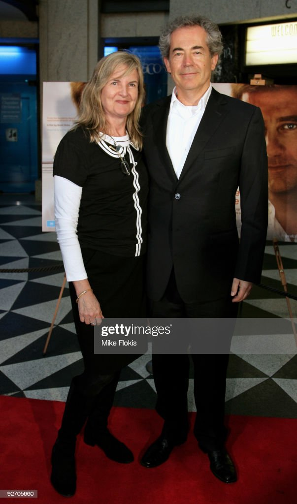 Gillian Armstrong and guest arrive for the premiere of 'The Boys Are Back' at Dendy Opera Quays on November 4 2009 in Sydney Australia
