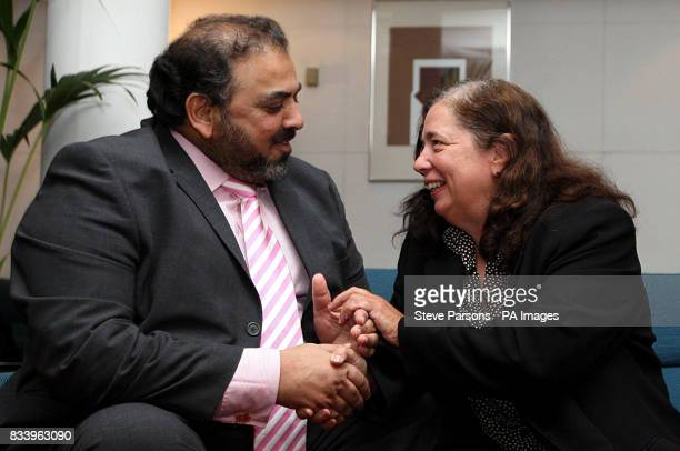 Gillian Gibbons the British teacher who was jailed in Sudan for allowing her students to name a teddy bear Mohammed speaks with Lord Ahmed one of the...