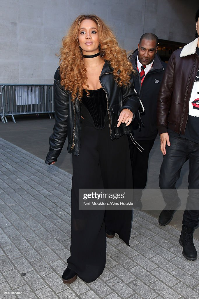 Gillian Hervey from 'Lion Babe' seen at BBC Radio One after performing in the Live Lounge on February 9, 2016 in London, England.