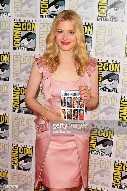 Gillian Jacobs attends the Community Press line on Day 3 of 2010 ComicCon International at San Diego Convention Center on July 24 2010 in San Diego...