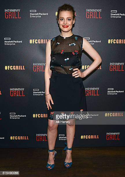 Gillian Jacobs attends the Fast Company Grill with Bella Thorne Kian Lawley KeeganMichael Key Gillian Jacobs on March 13 2016 in Austin Texas