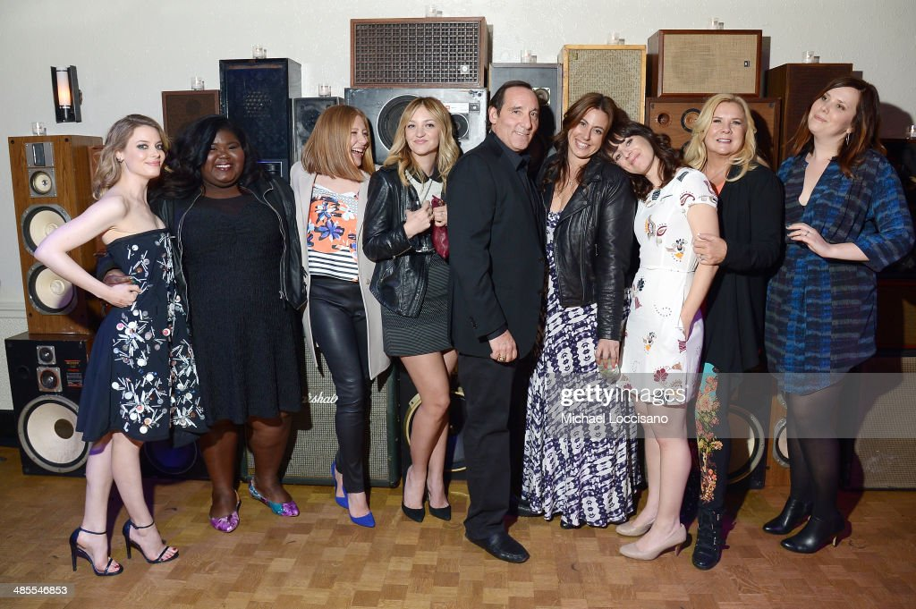 <a gi-track='captionPersonalityLinkClicked' href=/galleries/search?phrase=Gillian+Jacobs&family=editorial&specificpeople=4836757 ng-click='$event.stopPropagation()'>Gillian Jacobs</a>, Gabby Sidibe, guest, Abby Elliot, Daniel Crown, guest, Susanna Fogel, Anne O'Shea, and Joni Lefkowitz attend the 'Life Partners' Premiere after party during the 2014 Tribeca Film Festival at Liberty Hall on April 18, 2014 in New York City.