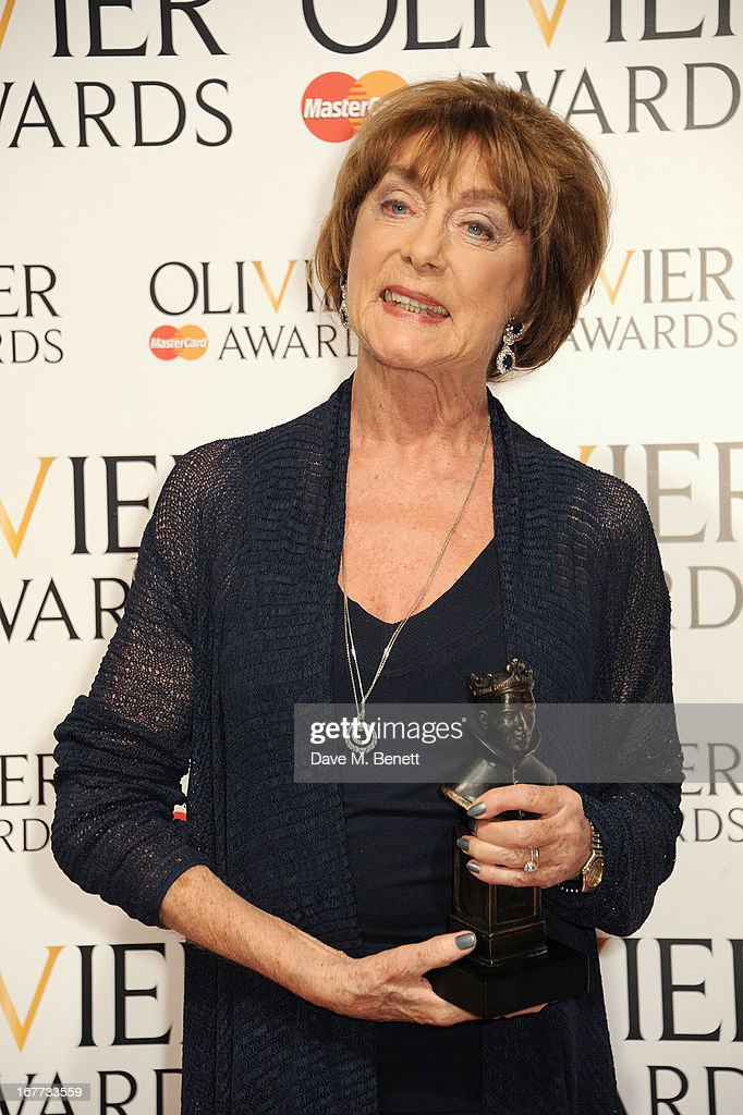 Gillian Lynne, winner of the Special Award, poses in the press room at The Laurence Olivier Awards 2013 at The Royal Opera House on April 28, 2013 in London, England.