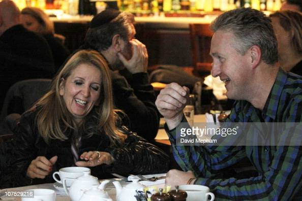 Gillian McKeith and Lembit Opik enjoy a light breakfast together at a central London restaurant on December 10 2010 in London England