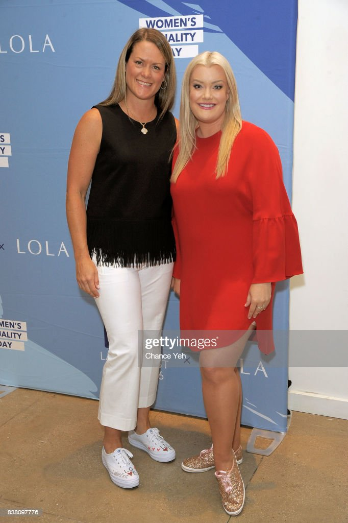 Gillian Meek and Jamie Kern Lima attend Champion Equality, Make It Your Business panel in celebration of Women's Equality day at Neuehouse on August 23, 2017 in New York City.