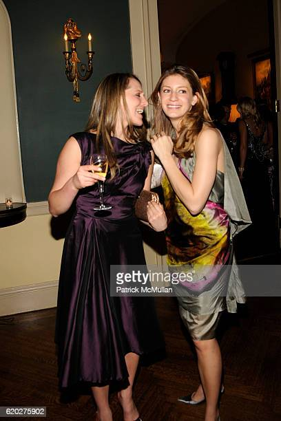Gillian Merns and Alexandra Baker attend CAROLINE ROWLEY Birthday Terez and Peter Rowley Anniversary Dinner and Party at Knickerboker Club on April...