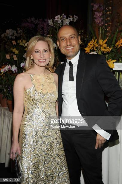 Gillian Miniter and Angel Sanchez attend THE NEW YORK BOTANICAL GARDEN Orchid Dinner at Rainbow Room on February 24 2009 in New York City