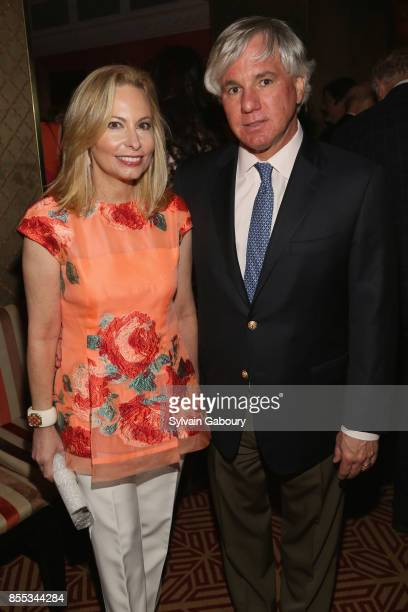 Gillian Miniter and Sylvester Miniter attend David Patrick Columbia and Chris Meigher Toast The Quest 400 at Doubles on September 28 2017 in New York...