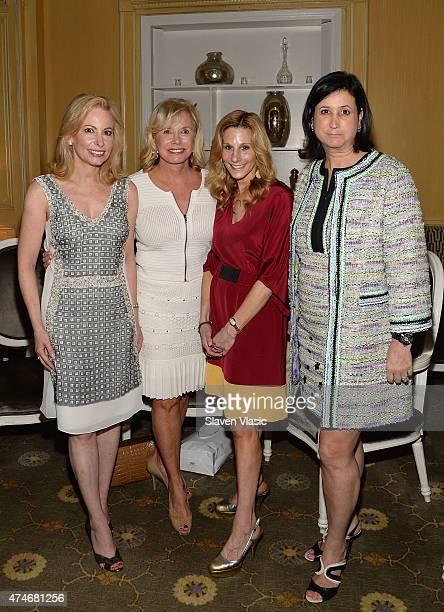 Gillian Miniter Sharon Bush Randi Schatz and Elyse Newhouse attend 'High Tea High Fashion with Dennis Basso' benefiting New York Botanical Garden at...