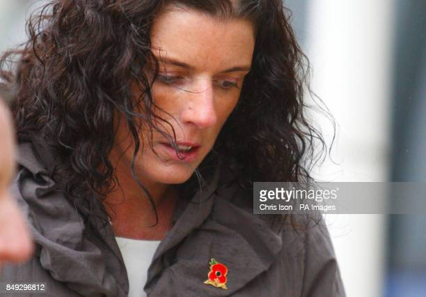 Gillian Molyneux arrives at the Civic Centre in Southampton to hear the opening of the inquest into the death of her husband Lieutenant Commander Ian...