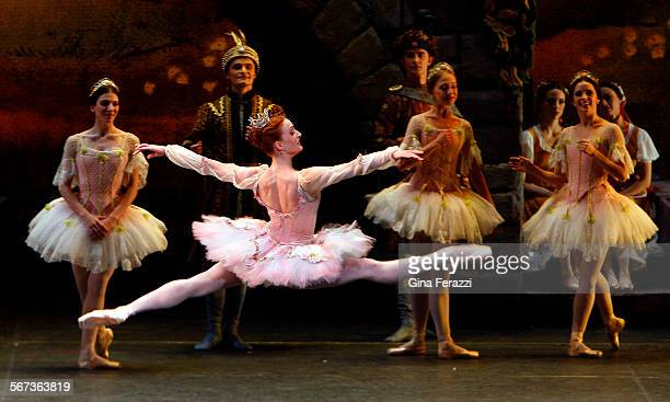 Gillian Murphy as Princes Aurora front is the star of the show in the performance of Sleeping Beauty by the American Ballet Theater at the Dorothy...