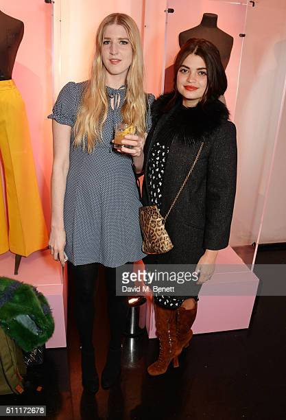 Gillian Orr and Pixie Geldof attend a party hosted by Marks and Spencer The British Fashion Council and Alexa Chung to kick off London Fashion Week...