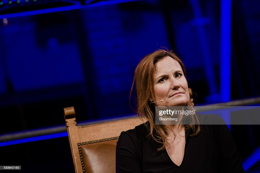 Gillian Tans, chief executive officer of Booking.com, looks on during the opening of 'Startup Fest', a five-day conference to showcase Dutch innovation, in Amsterdam, Netherlands, on Tuesday, May 24, 2016. The Digital City Index for 2015 ranked Amsterdam Europe's second-best city, behind London, for tech startups. Photographer: Marlene Awaad/Bloomberg via Getty Images