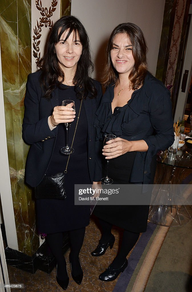 Gillian Wearing (L) and Tracey Emin attend a drinks reception at the South Bank Sky Arts awards at the Dorchester Hotel on January 27, 2014 in London, England.