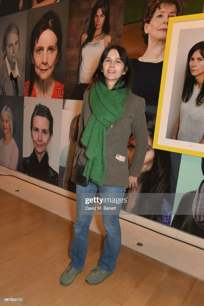 Gillian Wearing attends a private view of new exhibition 'From Life' at The Royal Academy of Arts on December 7, 2017 in London, England.