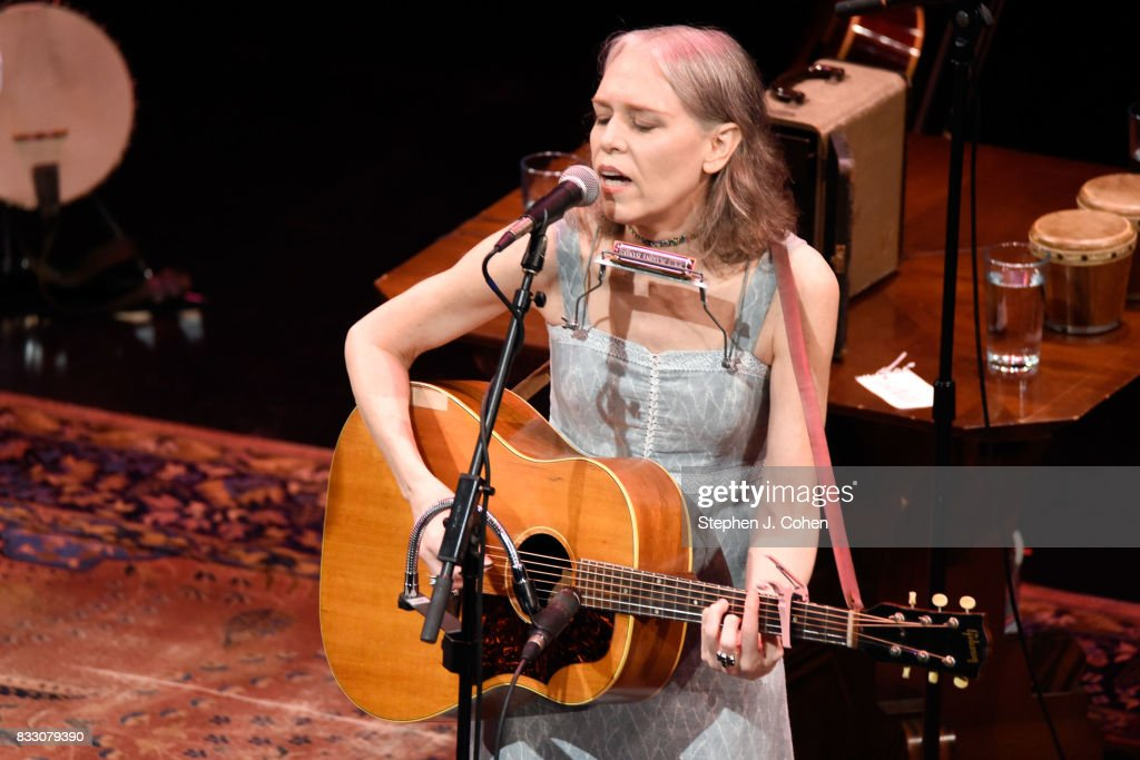 Gillian Welch of Dave Rawlings Machine performs at Brown Theatre on August 16, 2017 in Louisville, Kentucky.