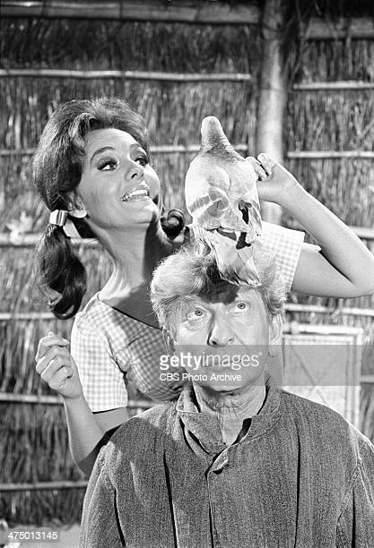 Gilligan's Island cast member at left Dawn Wells and guest star Sterling Holloway as Burt in the episode 'The Pigeon' Image dated February 6 1967