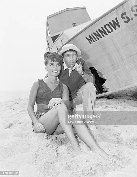 Gilligan's Island cast members from left Dawn Wells and Bob Denver appearing in the pilot episode Image dated August 12 1964