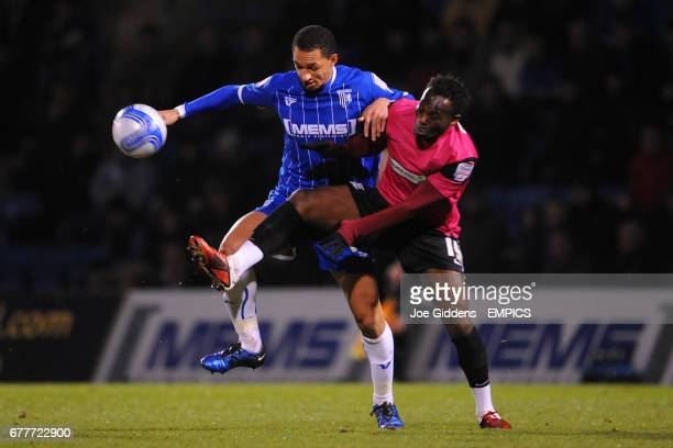 Gillingham's Lewis Montrose and Southend United's JeanPaul Kalala