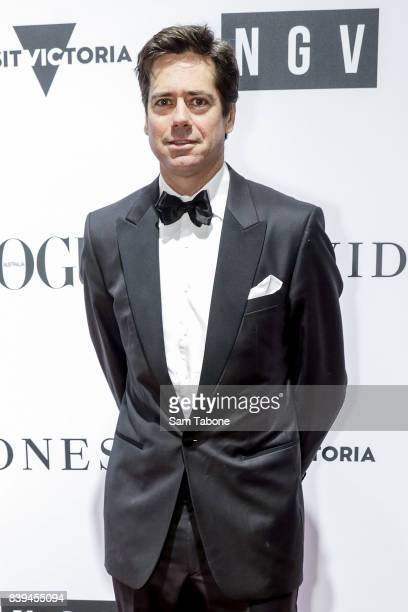 Gillon Mclachlan arrives ahead of the NGV Gala at NGV International on August 26 2017 in Melbourne Australia