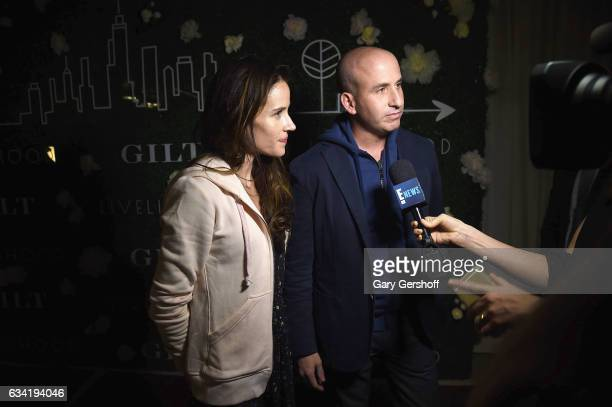 Gilt Saks OFF 5TH President Jonathan Greller and Livelihood founder Ashley Biden attend the Gilt x Livelihood launch event at Spring Place on...