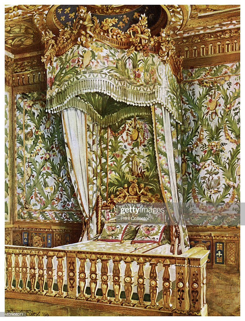 Gilt State Bed Of Marie Antoinette, Queenu0027s Bedroom, Palais De  Fontainebleau, France,